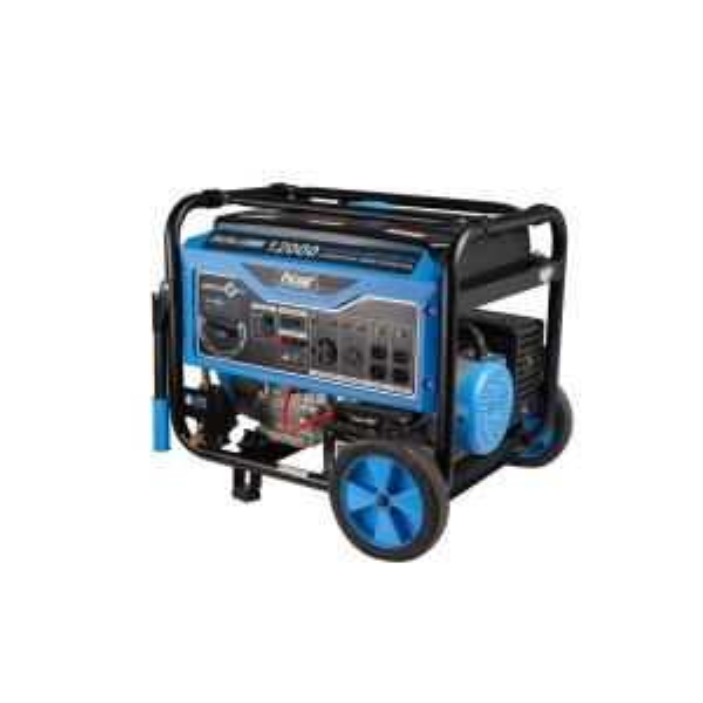 12,000-Watt/9,500-Watt Dual Fuel Gasoline/Propane Powered Electric/Recoil Start Portable Generator 457cc CARB Compliant