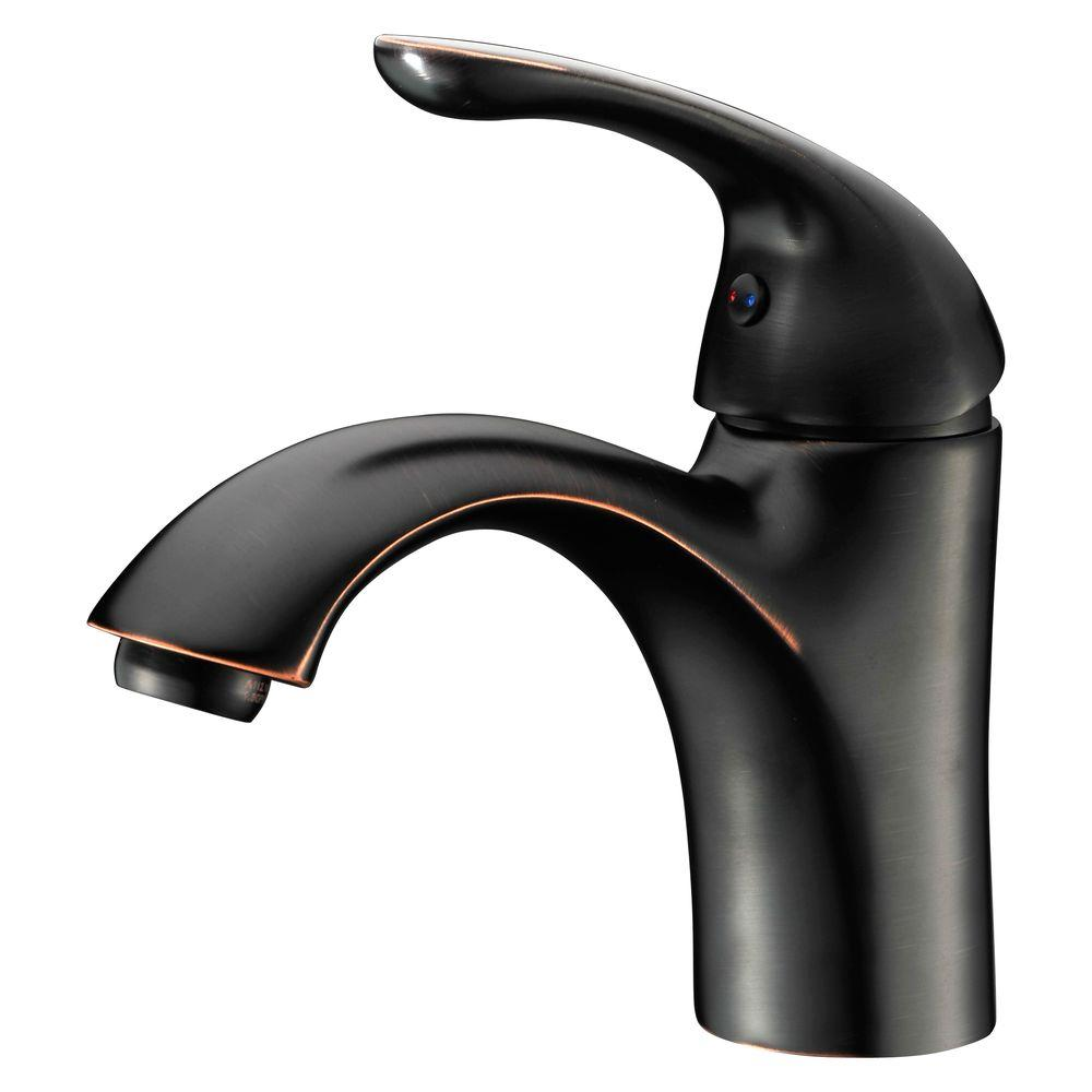 ANZZI Clavier Series Single Hole Single-Handle Mid-Arc Bathroom ...