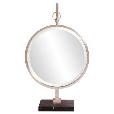 18 in. W x 30 in. H Medallion Silver Mirror
