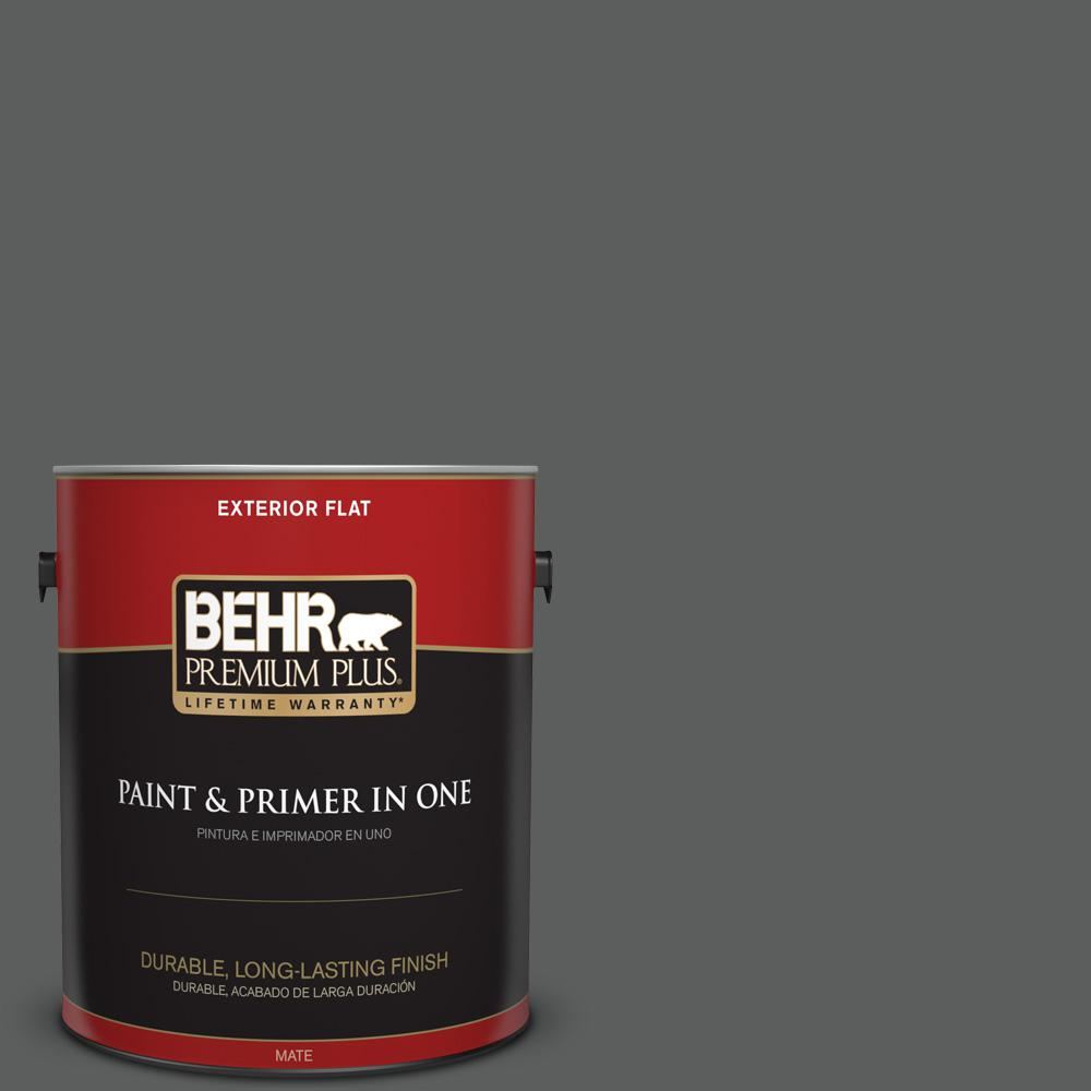 1 gal. #T17-10 Shades On Flat Exterior Paint