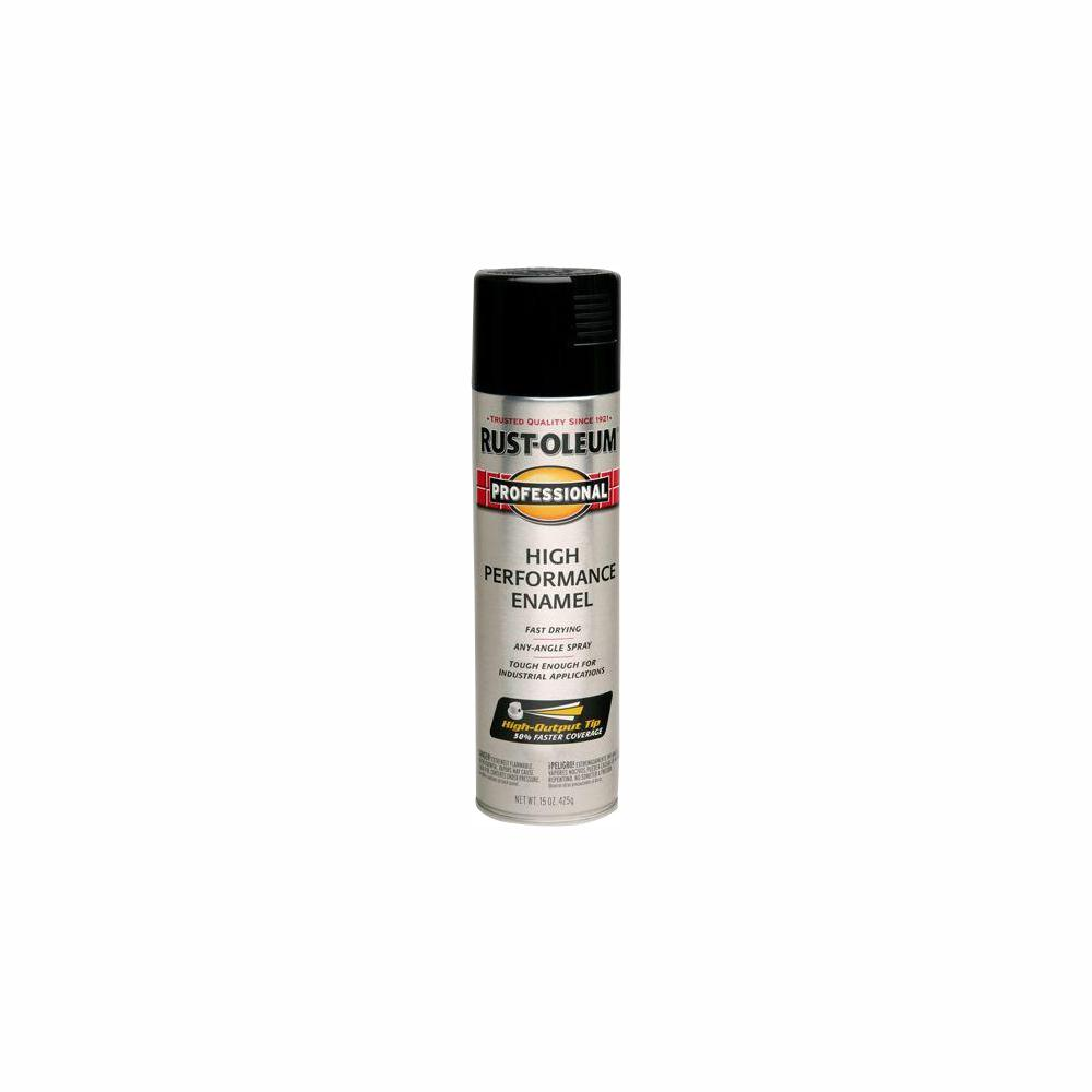 Rust-Oleum Professional 15 oz  High Performance Enamel Gloss Black Spray  Paint (6-Pack)