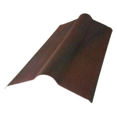 2-23/24 ft. x 19.5 in. Siena Brown Composite Standard Ridge Cap