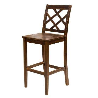 Harmon 26.18 In. Brown Acacia Counter Chair