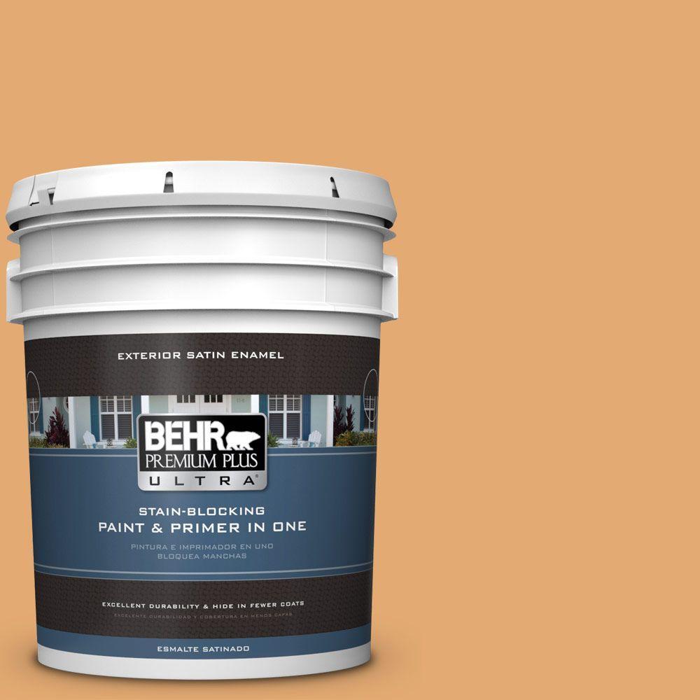BEHR Premium Plus Ultra 5-gal. #PMD-75 Autumn Gourd Satin Enamel Exterior Paint