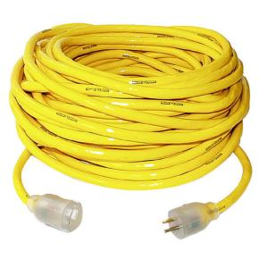 Yellow Jacket 50 ft. 10/3 SJTW Outdoor Heavy-Duty Extension Cord with Power... by Yellow Jacket