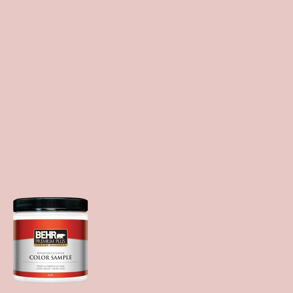 BEHR Premium Plus 8 oz. #150E-2 Kashmir Pink Interior/Exterior Paint Sample