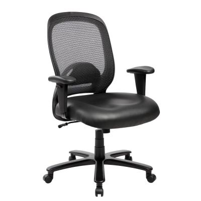 Black Comfortable Big and Tall Height Adjustable Office Computer Chair