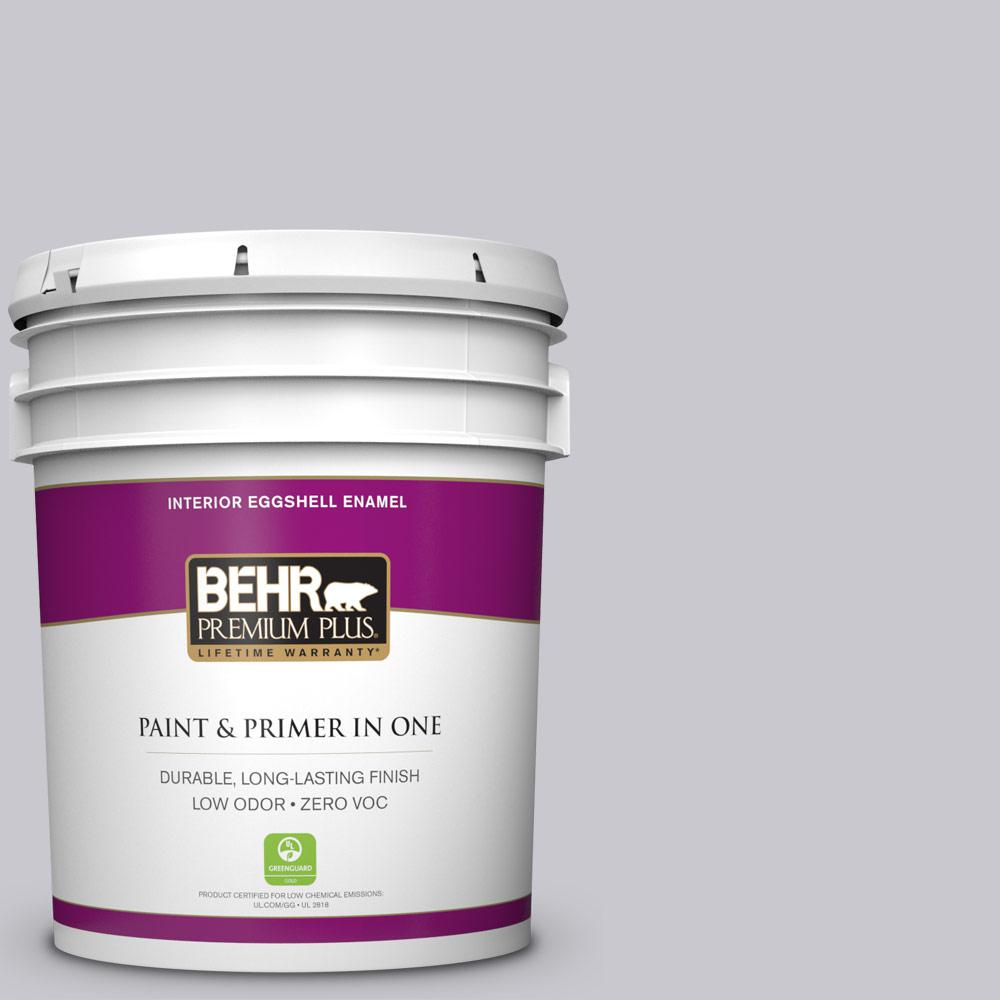 BEHR Premium Plus 5-gal. #ECC-62-1 Urban Gray Zero VOC Eggshell Enamel Interior Paint
