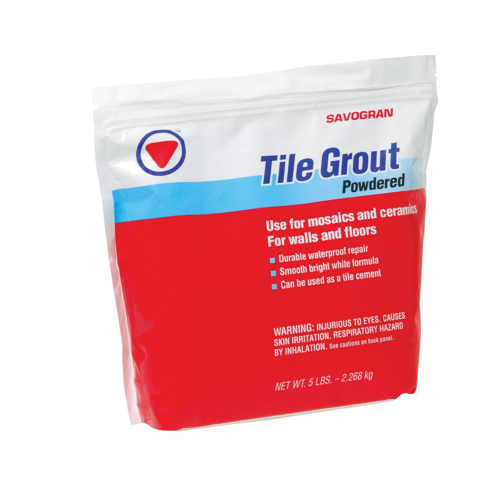 Savogran 12842 5 Lbs Tile Grout White Waterproof Powder Mix With