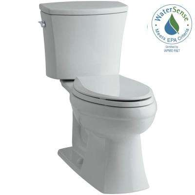 Kelston Comfort Height 2-piece 1.28 GPF Single Flush Elongated Toilet with AquaPiston Flushing Technology in Ice Grey