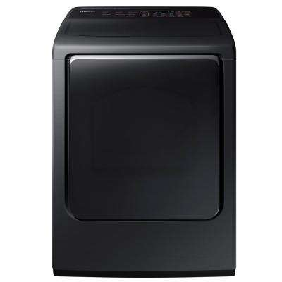 7.4 cu. ft. Electric Dryer with Steam in Black Stainless Steel, ENERGY STAR