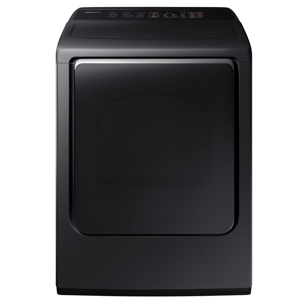 7.4 cu. ft. Gas Dryer with Steam in Black Stainless Steel,