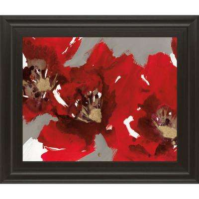 """22 in. x 26 in. """"Red Poppy Forest I"""" by N. Barnes Framed Printed Wall Art"""