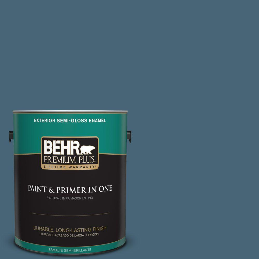 1 gal. #HDC-WR15-6 Winter Evening Semi-Gloss Enamel Exterior Paint