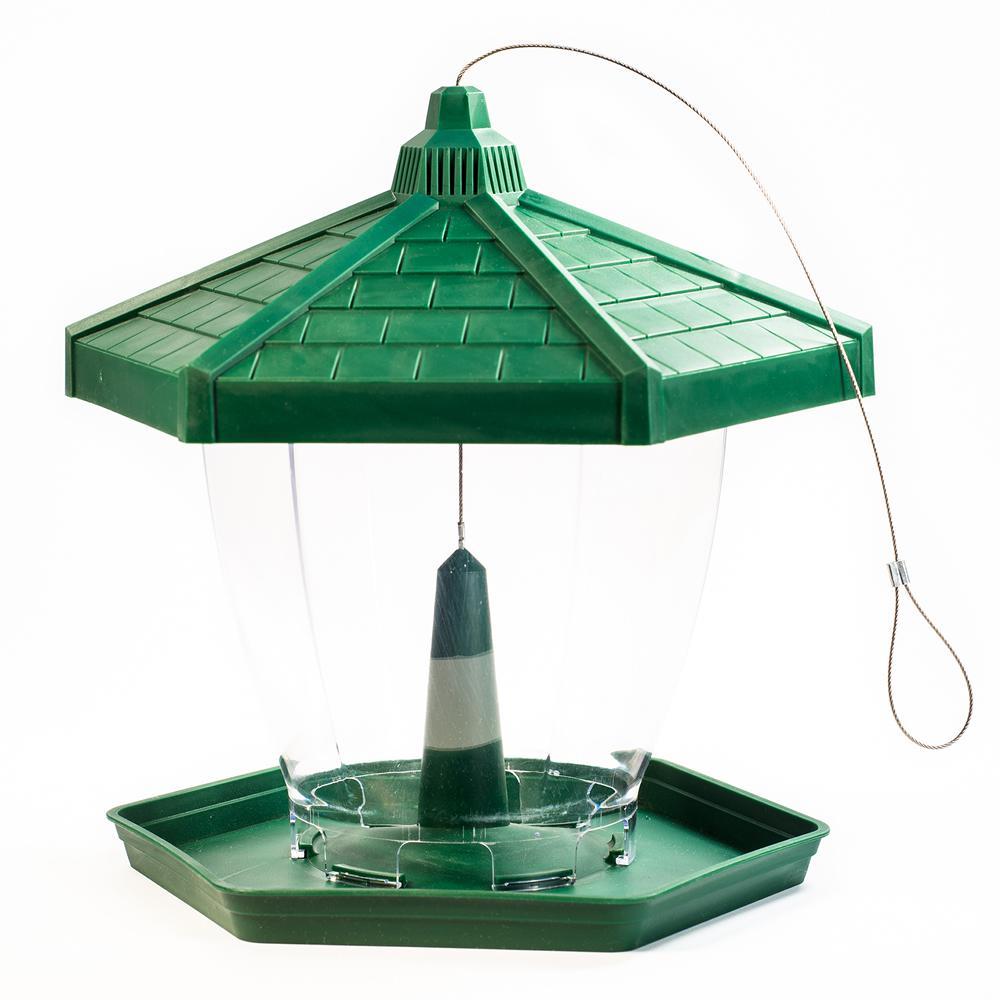 Grand Chalet Plastic Hanging Bird Feeder - 4 lb. Capacity
