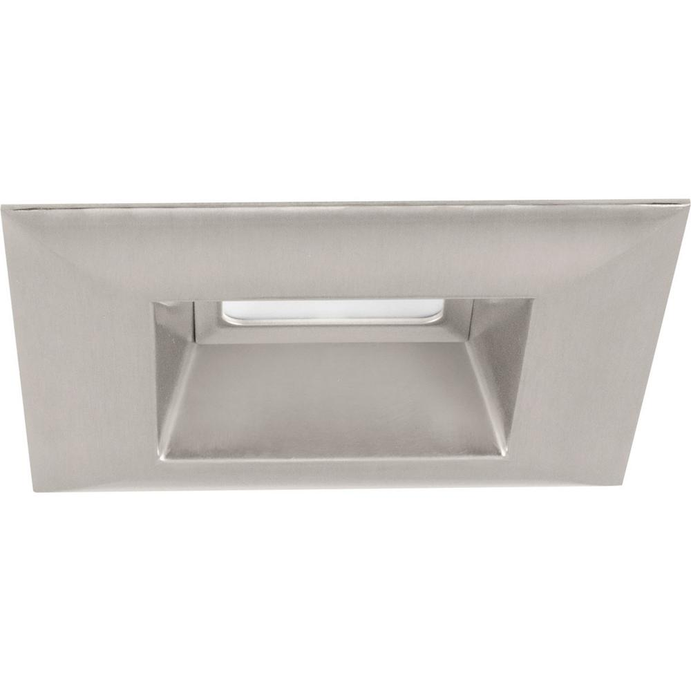 Progress Lighting Retrofit Square Collection 5 in  Brushed Nickel  Integrated LED Recessed Trim