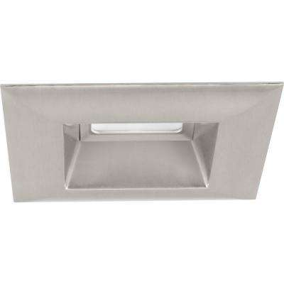 Retrofit Square Collection 5 in. Brushed Nickel Integrated LED Recessed Trim
