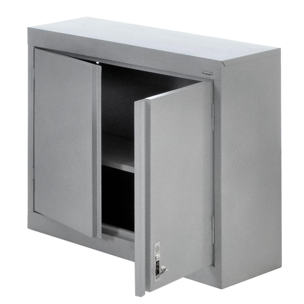 30 in. H x 30 in. W x 12 in. D Steel Wall Mounted Cabinet Storage in Multi Granite