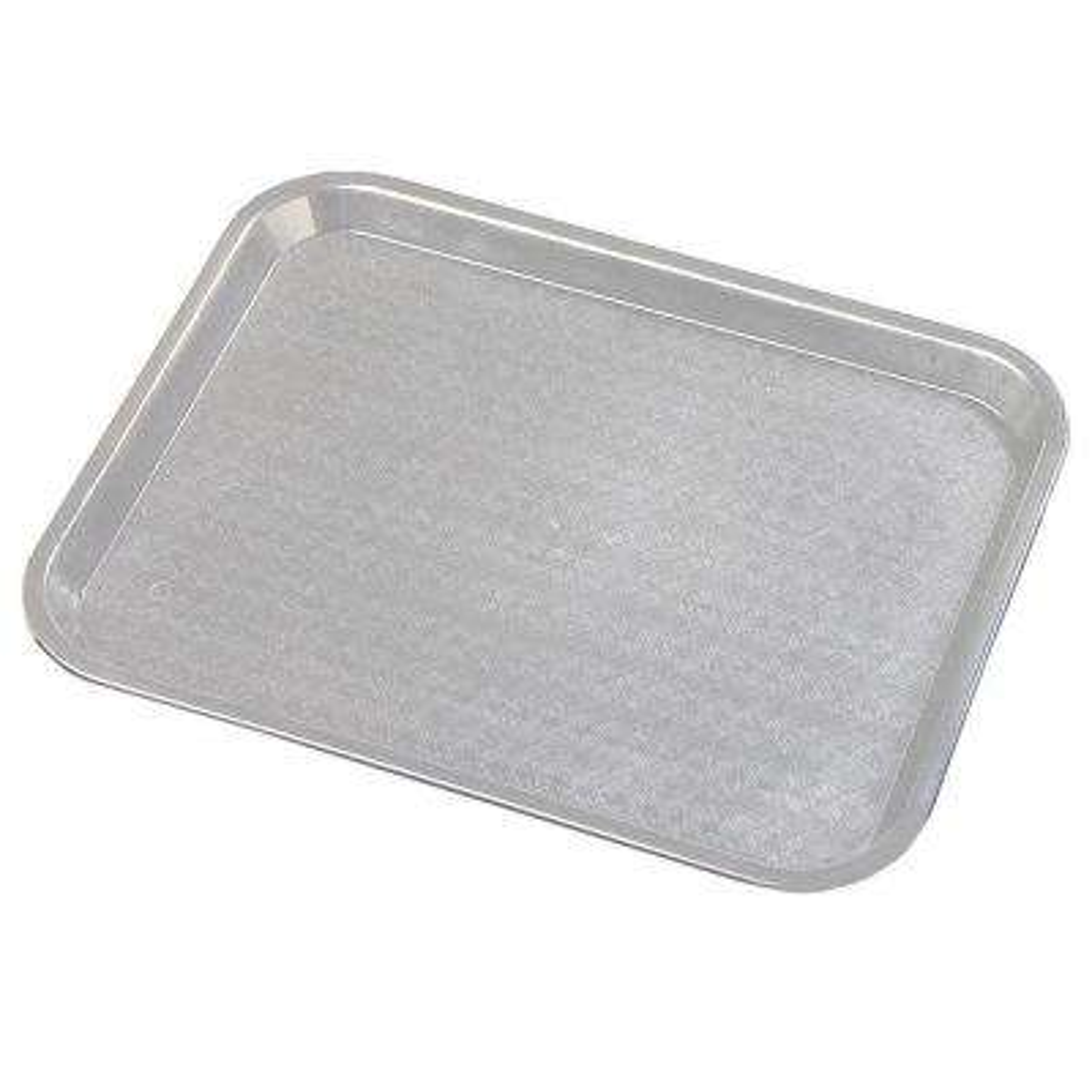 14 in. x 18 in. Polypropylene Tray in Gray (Case of 12)