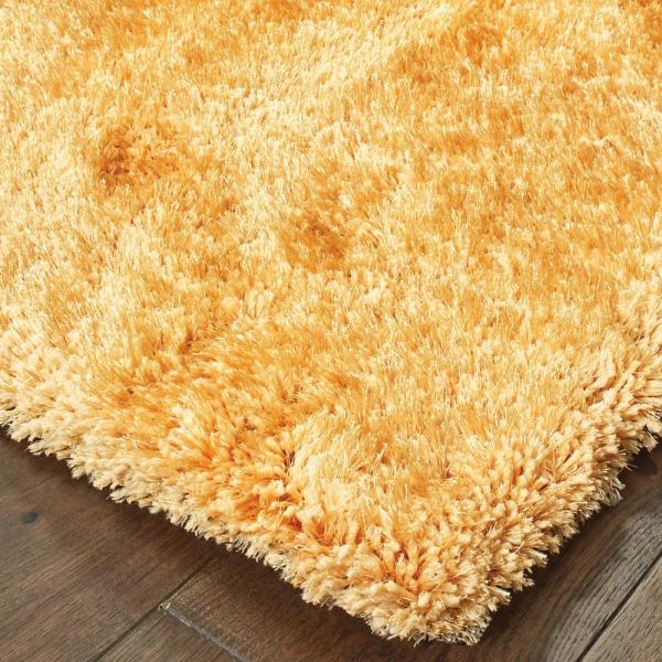 Gold 8 Ft X 11 Solid Area Rug