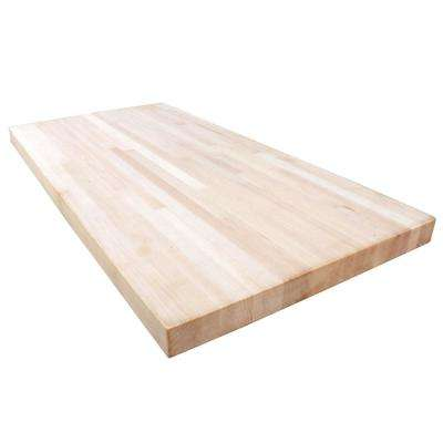 8 ft. 2 in. L x 2 ft. 1 in. D x 1.5 in. T Butcher Block Countertop in Unfinished Maple