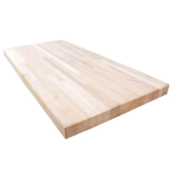 Unfinished Maple 6 ft. L x 39 in. D x 1.5 in. T Butcher Block Island Countertop
