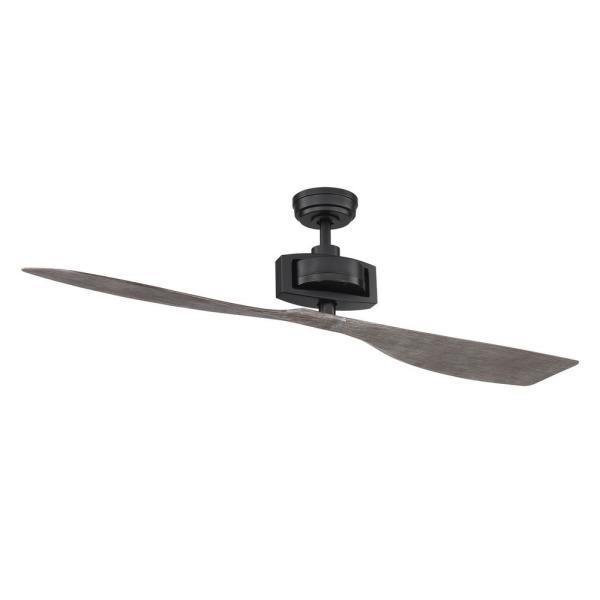 Alderbrook 60 in. Indoor Matte Black Ceiling fan with Remote Control