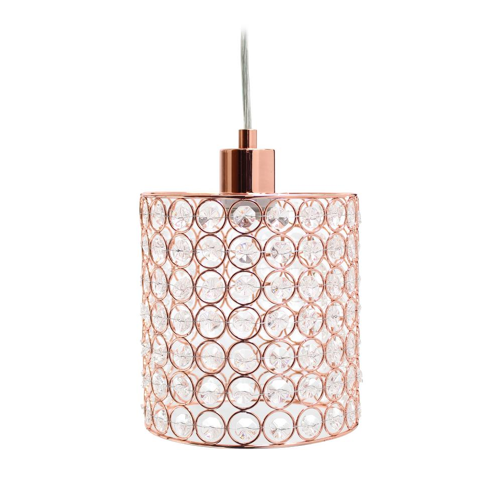 Elipse 1 Light Rose Gold Cylinder Pendant