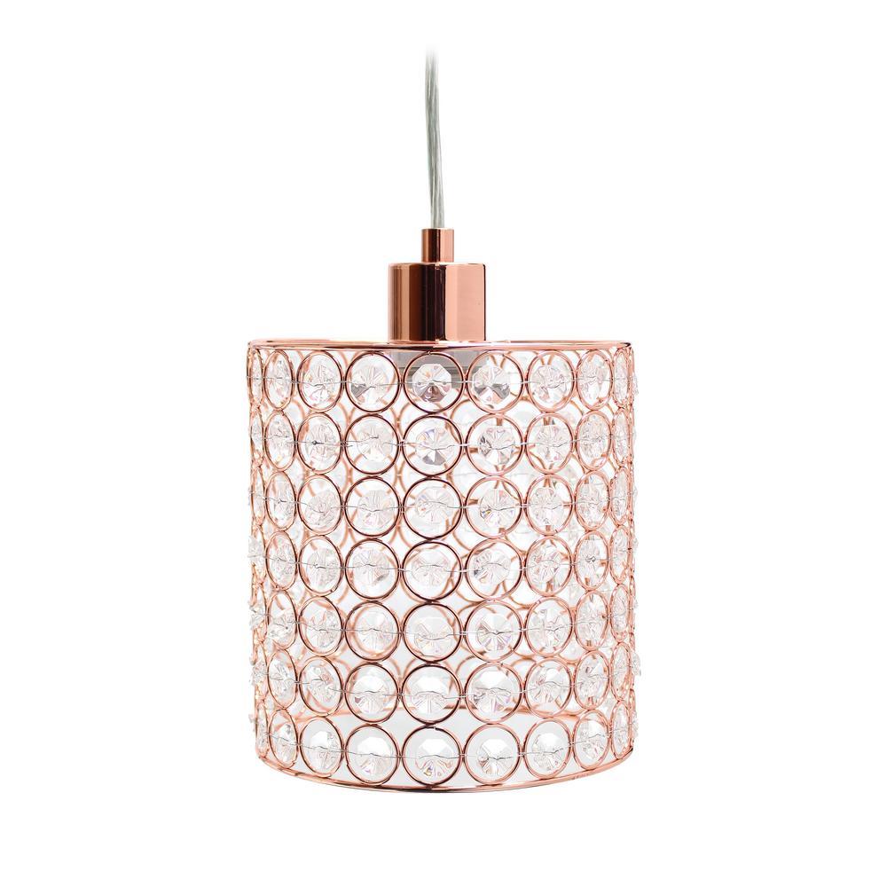 Elipse 1 Light Rose Gold Cylinder Pendant