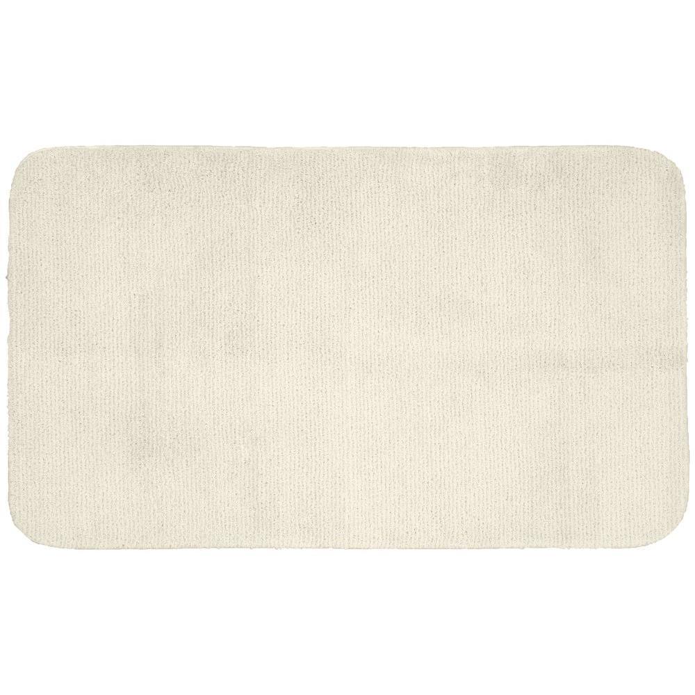 Garland Rug Glamor Ivory 30 in. x 50 in. Washable Bathroom Accent Rug