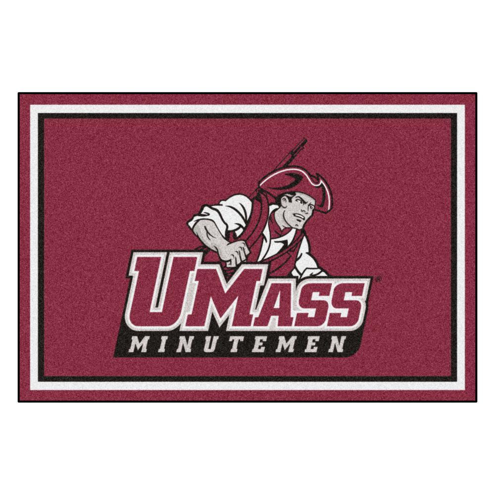 NCAA - University of Massachusetts Red 8 ft. x 5 ft. Indoor Area Rug