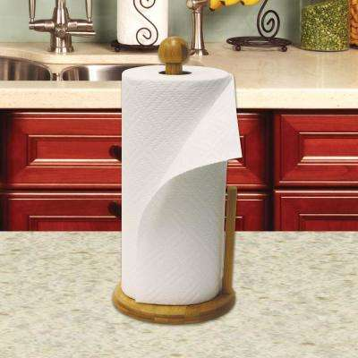 Bamboo Paper Towel Holder