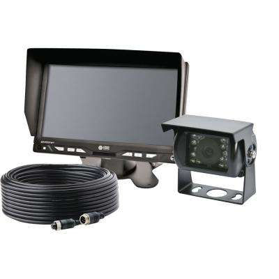 7 in. LCD Color Monitor, 3 in. Square Camera and Backup Camera Kit