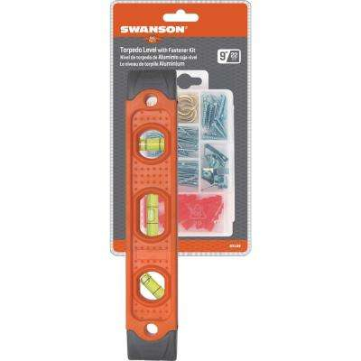 9 in. Composite Magnetic Level and Picture Hanging Fastener Kit