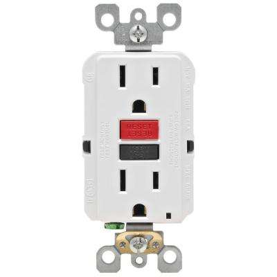 15 Amp 125-Volt Self-Test Tamper Resistant GFCI Outlet, White (4-Pack)