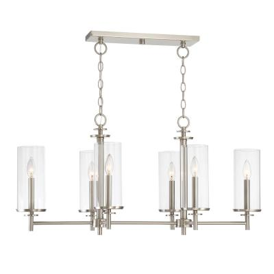 Harlowe 6-Light Satin Platinum Island Pendant