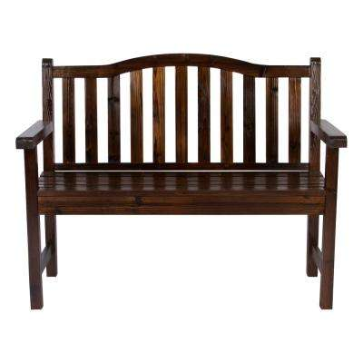 Belfort Cedar Wood Outdoor Garden Bench 43.25 in. - Burnt Brown