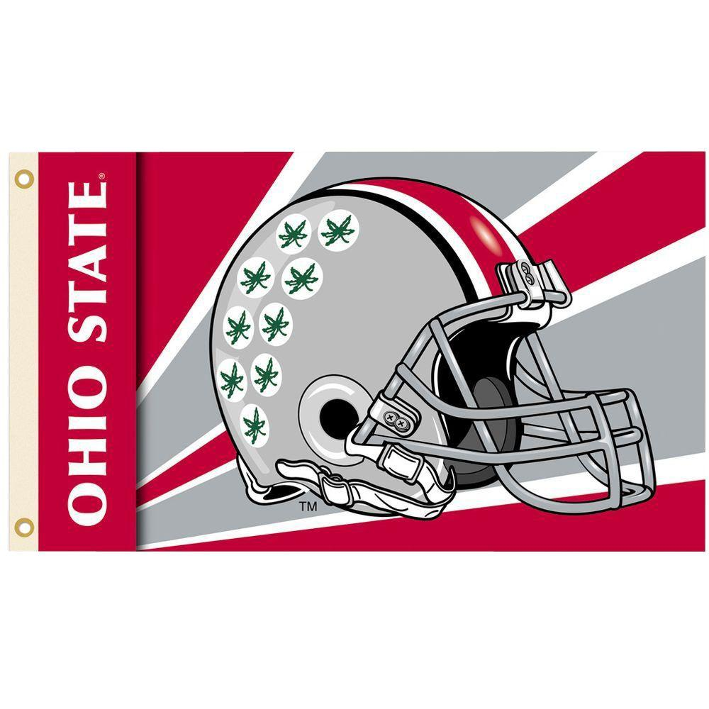 Bsi Products Ncaa 3 Ft X 5 Ft Helmet Ohio State Flag 95355 The Home Depot