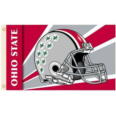 NCAA 3 ft. x 5 ft. Helmet Ohio State Flag