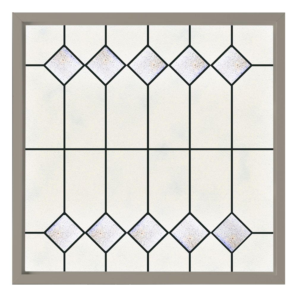 47.5 in. x 47.5 in. Mission Decorative Glass Picture Vinyl Window