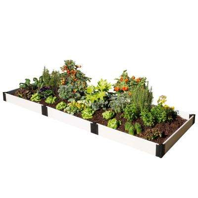 4 ft. x 12 ft. x 8in. Classic White Composite Raised Garden Bed Kit