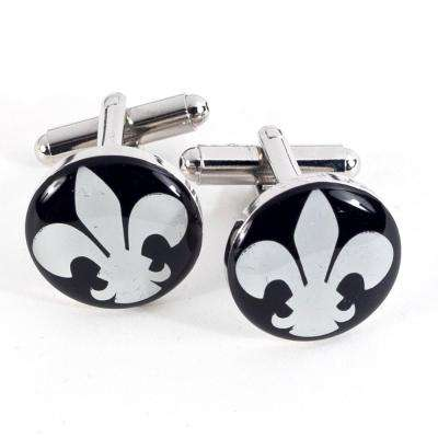 Metal Cufflink in Black