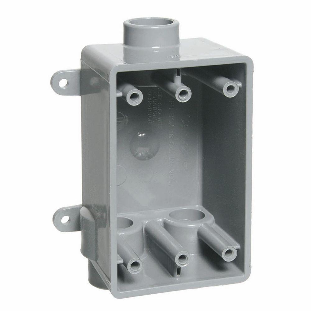 1-Gang 19 cu. in. Type FSCC Conduit PVC FS Box (Case of 8)