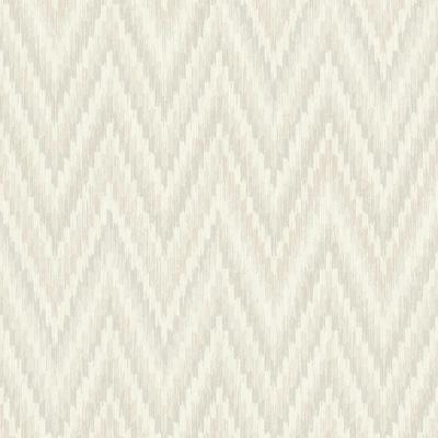 Metallic Static Zigzag Abstract Grey and White Wallpaper
