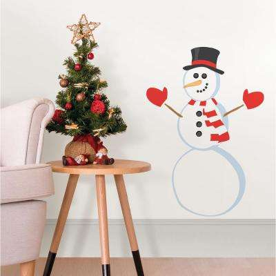 15 in. x 23 in. Decorate a Snowman Small Wall Art Kit