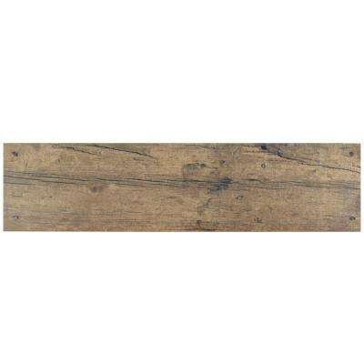 Cottage Brown 5-7/8 in. x 23-5/8 in. Ceramic Floor and Wall Tile (12.2 sq. ft. / case)