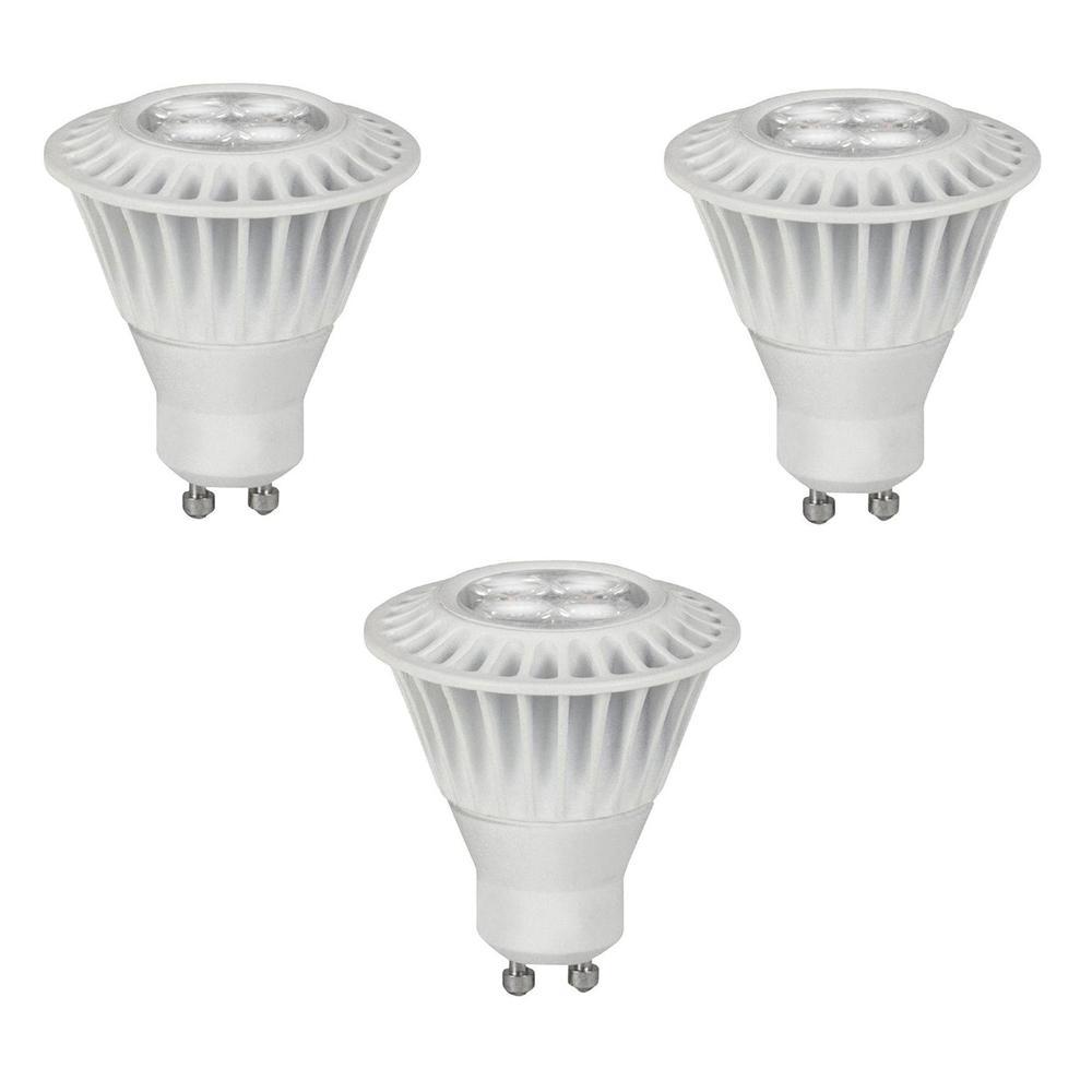 35W Equivalent Bright White GU10 Dimmable LED Spot Light Bulb (3-Pack)