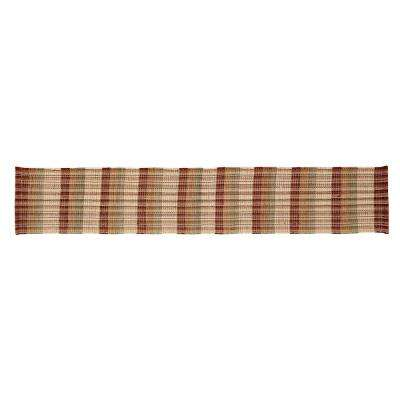 Cottage Plaid Woven Natural Cotton Table Runner