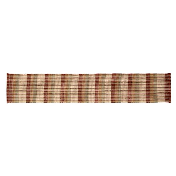 Better Trends Cottage Plaid Woven Natural Cotton Table Runner