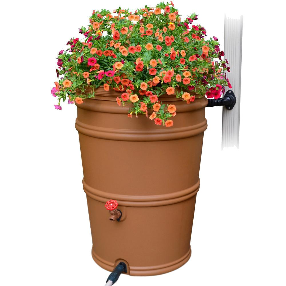 RainStation 45 Gal. Terracotta Rain Barrel with Diverter